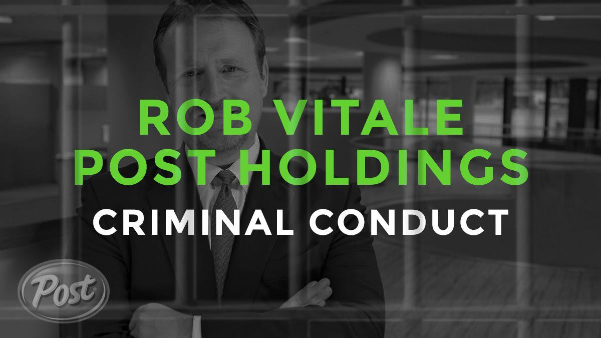 Rob Vitale Post Holdings CEO