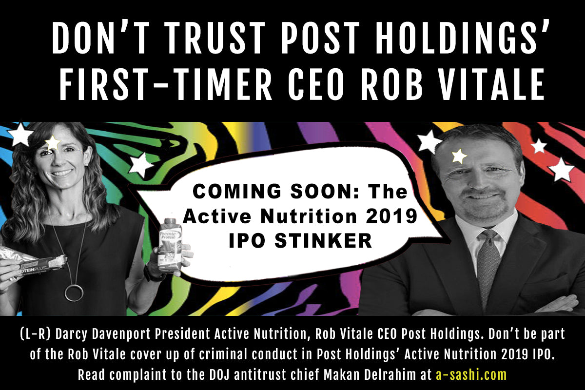 Rob Vitale Post Holdings Active Nutrition IPO
