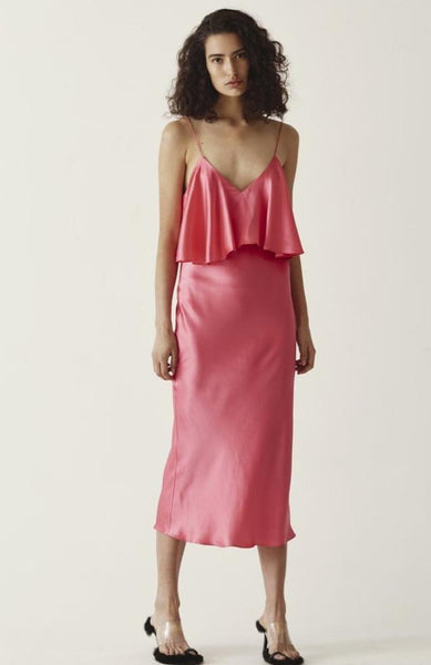 GARY BIGENI Adele Dress, Hot pink