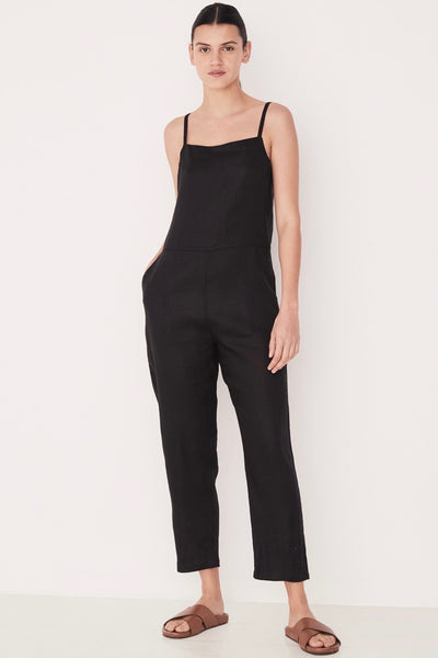 ASSEMBLY LABEL Pinafore Jumpsuit, Black
