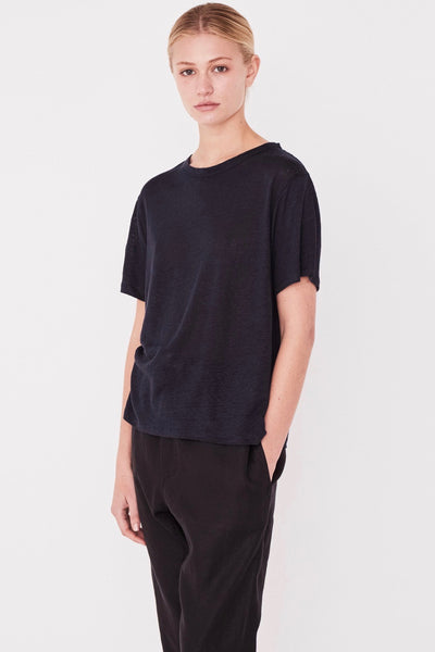 ASSEMBLY LABEL Linen Tee, True Navy