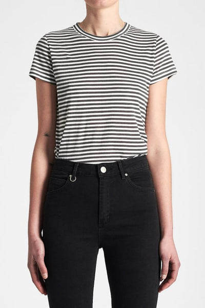 NEUW Slim Tee, Off White Stripe
