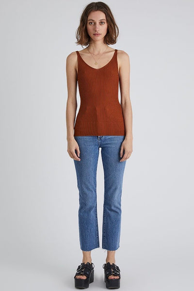 NEUW The Moves Knit Singlet, Cognac