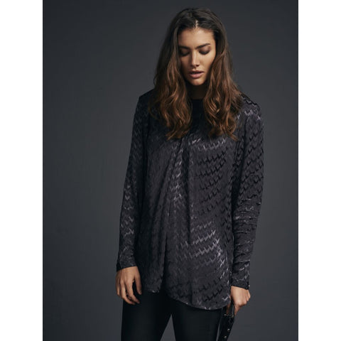 NU DENMARK Patterned  Shirt, Anthracite