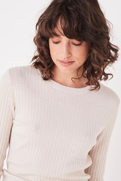 ASSEMBLY LABEL Ella Long Sleeve Knit, Natural