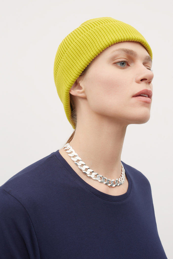 Kowtow Beanie is crafted from 100% organic cotton and has a rolled hem. Keep warm and cosy whilst adding some colour into your winter wardrobe.  100% fair trade organic cotton