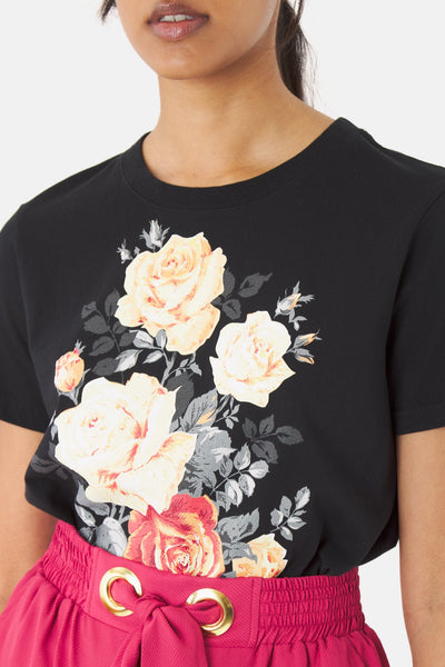 KATE SYLVESTER Blooms T-Shirt, Black