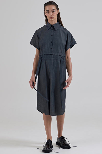 GARTH COOK Submerge Shirt Dress, Blue Chambray