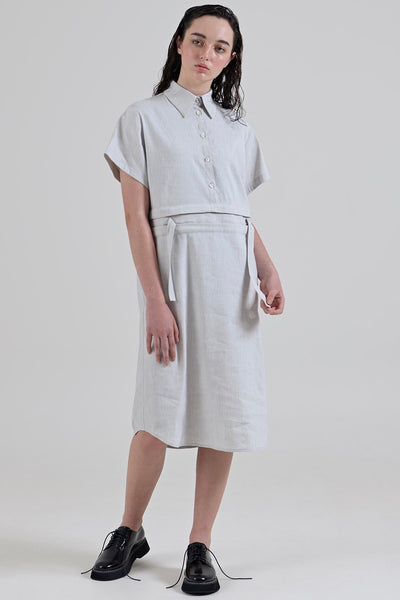 GARTH COOK Submerge Shirt Dress, Grey