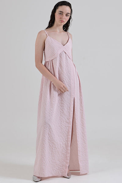 GARTH COOK Holiday Dress, Pink Stripe