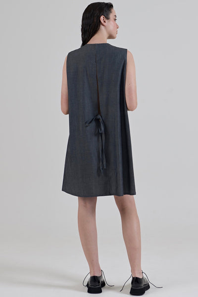 GARTH COOK Water Cooler Dress, Blue Chambray