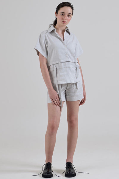 GARTH COOK Submerge Waist Shirt, Grey