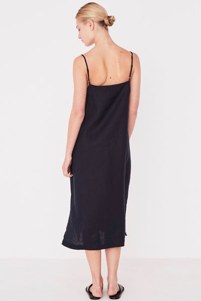 ASSEMBLY LABEL Linen Slip Dress True Navy