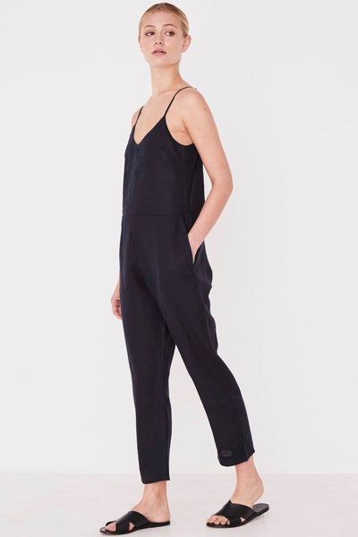 ASSEMBLY LABEL Linen Slip Jumpsuit Jumpsuit, True Navy