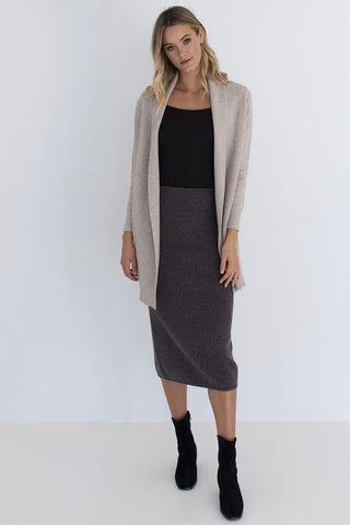 HUMIDITY Waffle Knit Cardi, Natural