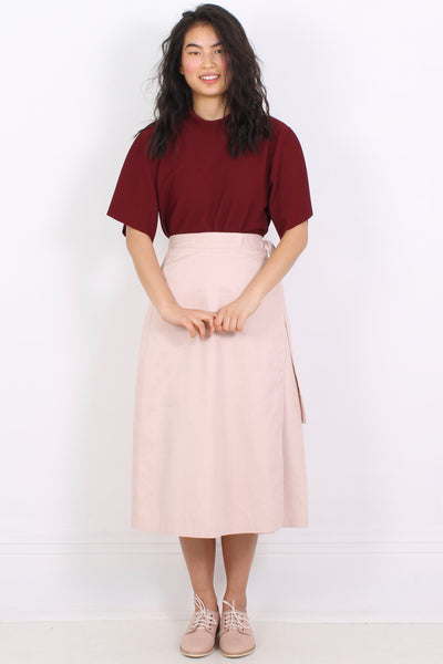 PHOEBE D'ARCY-EVANS Wrap Skirt, Dusty Pink