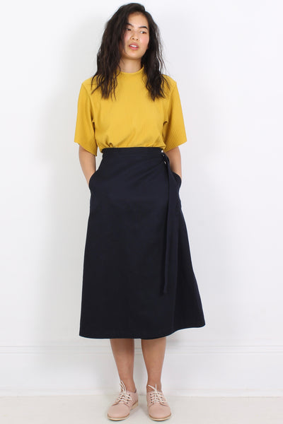 PHOEBE D'ARCY-EVANS Wrap Skirt, Midnight