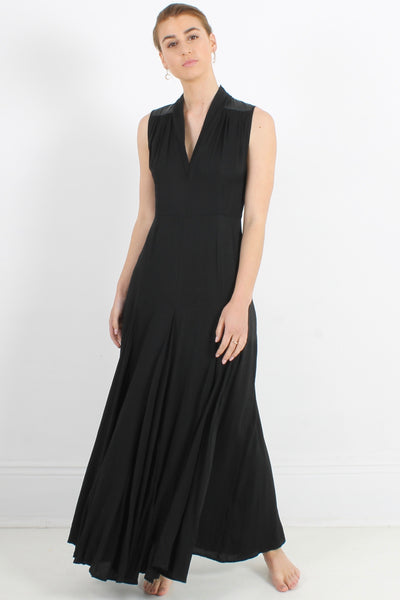 NU DENMARK  Drape Dress, Black