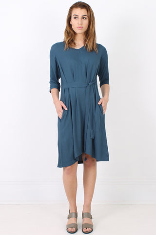 PERISCOPE Tie Up Dress, Ocean