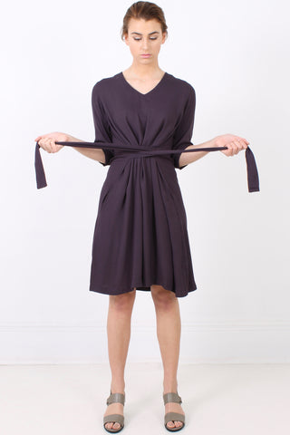 PERISCOPE Tie Up Dress, Fudge