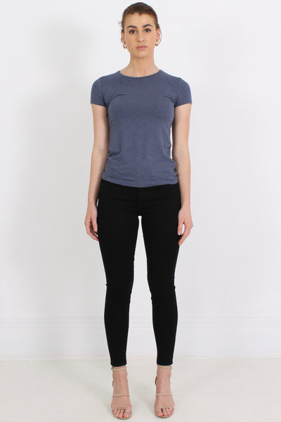 MAJESTIC Viscose Tee, Denim
