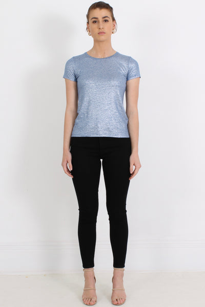 MAJESTIC Tee, Silver Blue