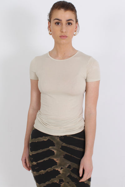 MAJESTIC Viscose Tee, Metal Gold