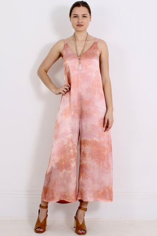 LACAUSA Santi Jumpsuit, Coral Wash