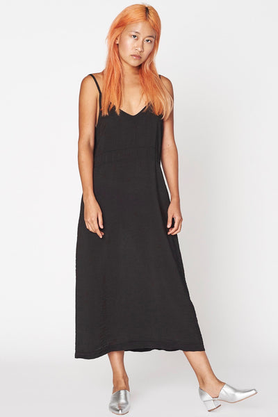 LACAUSA Alma Slip Dress, Tar