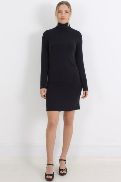 MAJESTIC Turtle Neck Dress, Marine