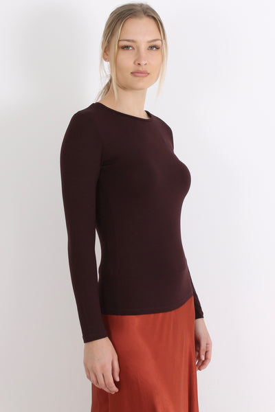 MAJESTIC Long Sleeve, Aubergine