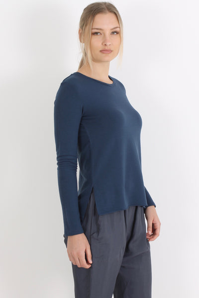 MAJESTIC Loose Tee, Night Blue
