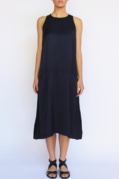 PERISCOPE Drop Waist Dress, Navy