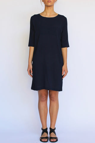 PERISCOPE Shift Dress, Navy