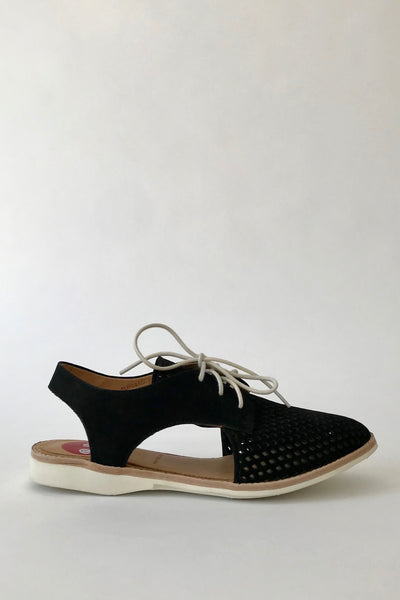 ROLLIE Slingback Punch, Black Nubuck