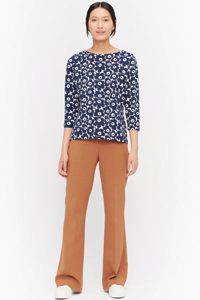 MARIMEKKO Ilma Unikko Top, White and Blue