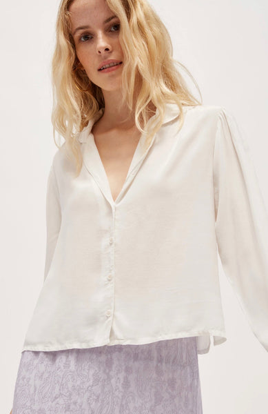 LACAUSA Gemma Blouse, Panna Cotta