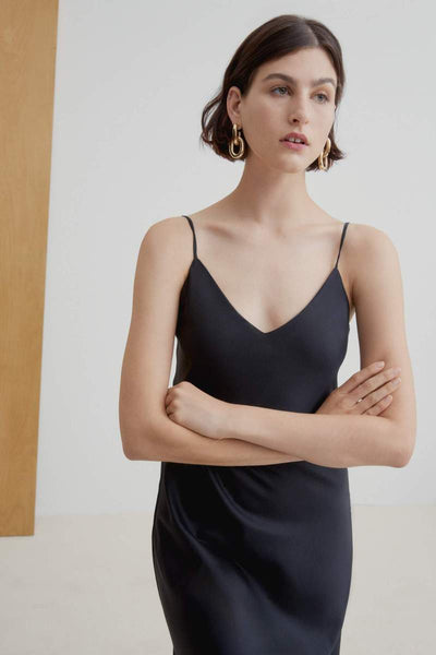 KOWTOW Ada Long Slip Dress, Black