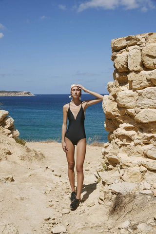 Kowtow Triangle One Piece Swimmers, Black