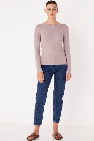 ASSEMBLY LABEL Rib Long Sleeve Knit, Fawn