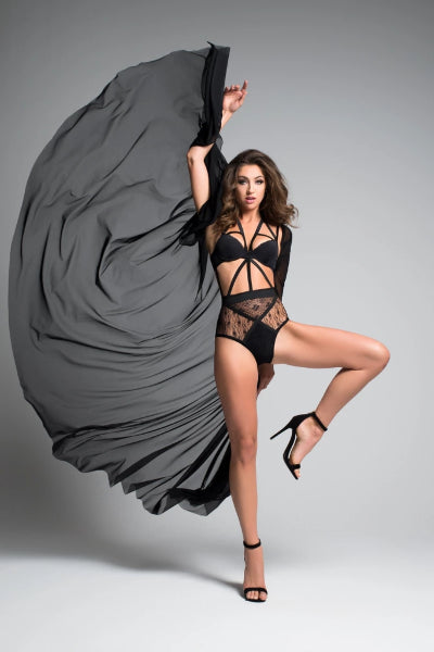 Callie adore coco decadently divine sheer cape-Cape-Fab Fantasies