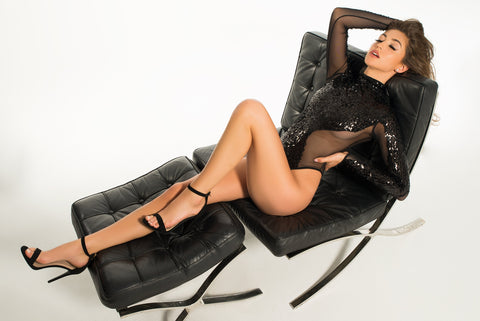Image of Kailey glamorous sequins & sheer body-Bodysuit-Fab Fantasies