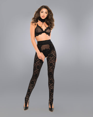 Image of Freya wild lace chaps, panty and bra-Bra Set-Fab Fantasies