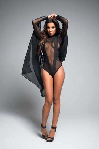 Image of Lilianna irresistably sheer body with enticing v shape-Bodysuit-Fab Fantasies