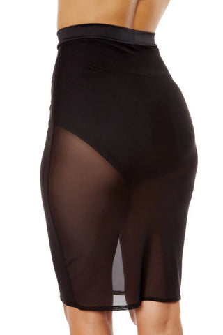 Angel Sheer Mesh Skirt With Attached Underlay High-Waisted Shorts-Skirt-Fab Fantasies