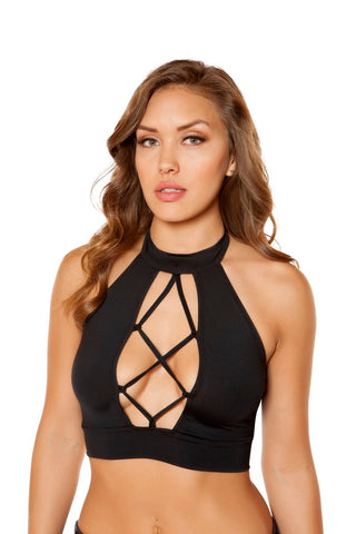 Noelle Strappy Lace-Up Crop Top-Top-Fab Fantasies