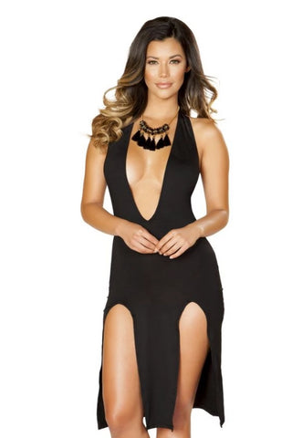 Stephanie Low Neck Dress-Dress-Fab Fantasies