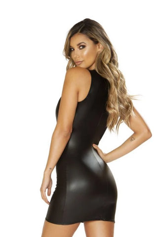 Image of Paisleigh Leather Look Dress-Dress-Fab Fantasies