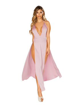 Magdalena Maxi Length Satin Dress-Dress-Fab Fantasies