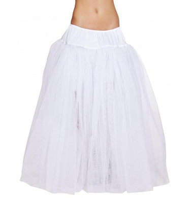 Full Length White Petticoat-Costume Accessories-Fab Fantasies